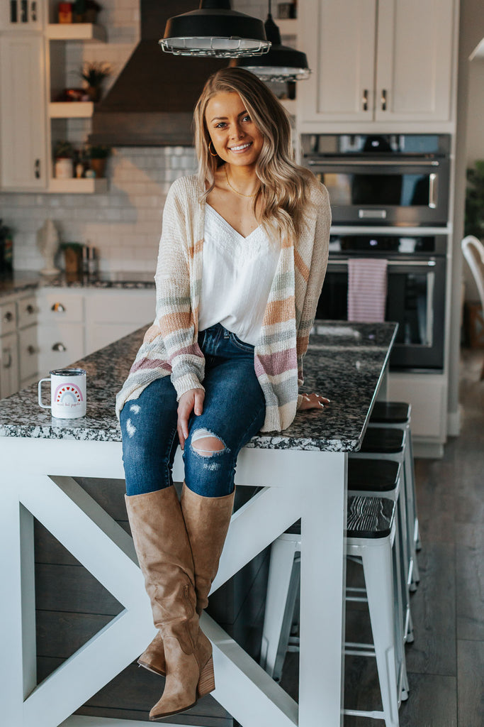 Adore Your Beauty Striped Cardigan