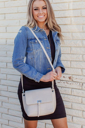 The Maya Crossbody Bag - Bone