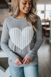Heartfelt Sweater - Grey/Ivory