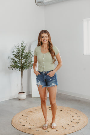 This Is The Day Romper-Olive
