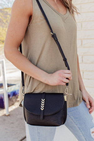 The Sophia Crossbody Bag - Black