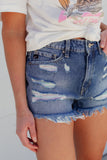 KanCan Luna Shorts - Medium Wash