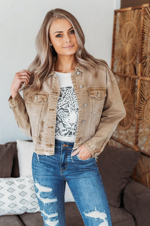 Stacie Denim Jacket - Tan