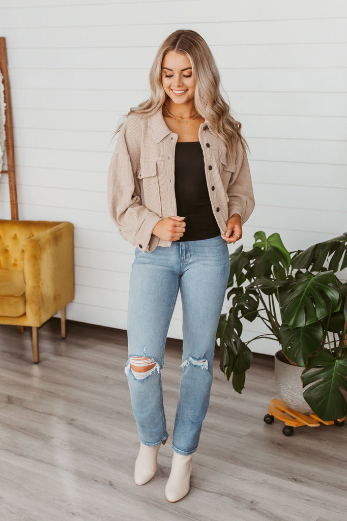 Hello Fall Sweater- Heather Carrot
