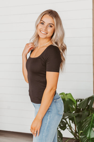 Double Hooded Sweatshirt - Navy Knotted Floral Accent
