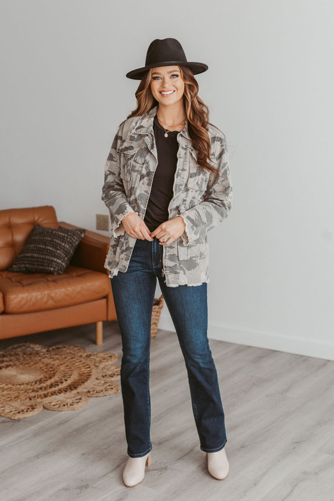 Side Shirred Long Sleeve Top - Ivory