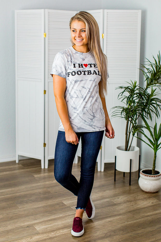I Hate Football Tee(S-2X) - Beautique