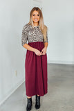 Girl's Getaway Maxi Dress-Wine