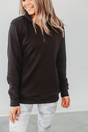 On The Road Half Zip - Black