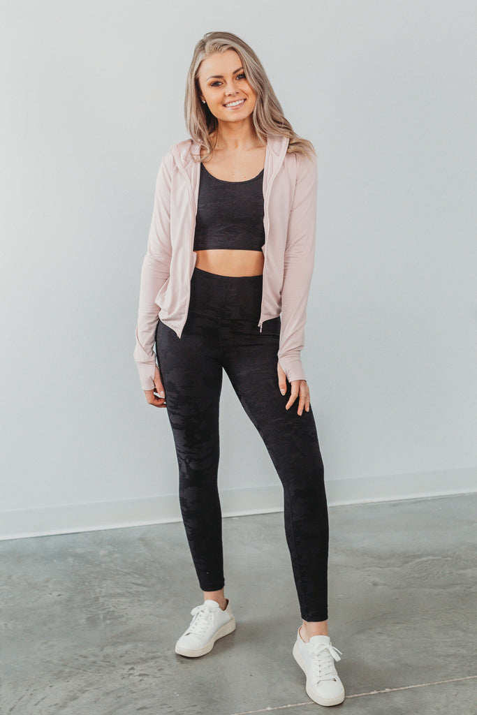 Move To The Beat Athletic Jacket - Pink Powder