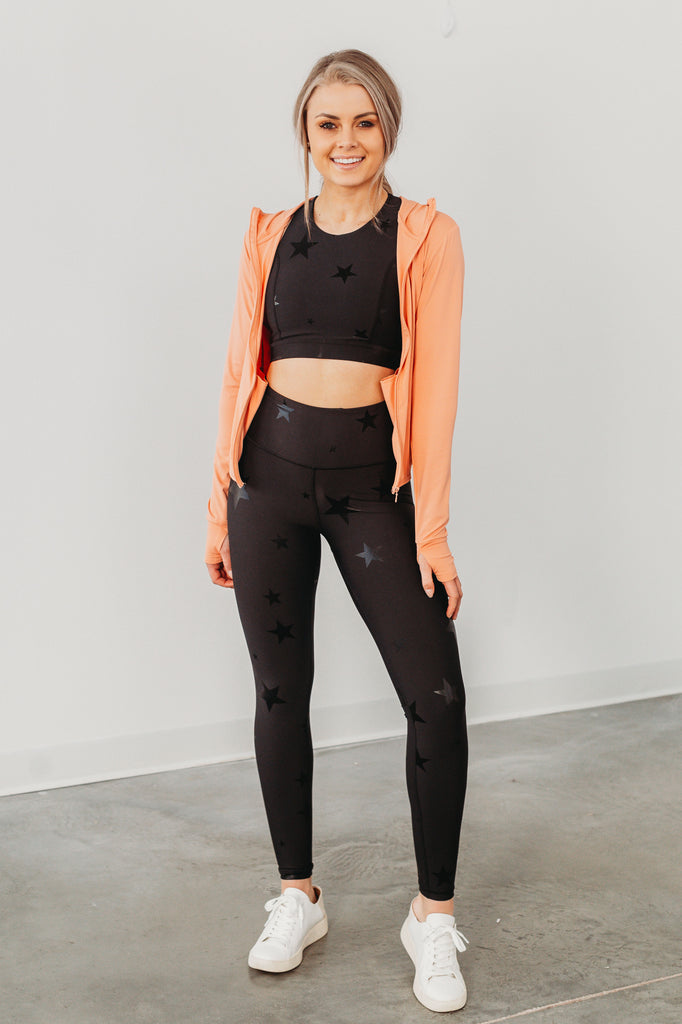 Move To The Beat Athletic Jacket - Peach