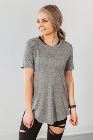 Everyday Comfort Tee - Heather Grey