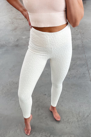 Leopard High Waisted Leggings - Natural