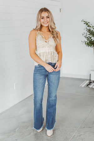 High Waist Paper Bag Pants - Black