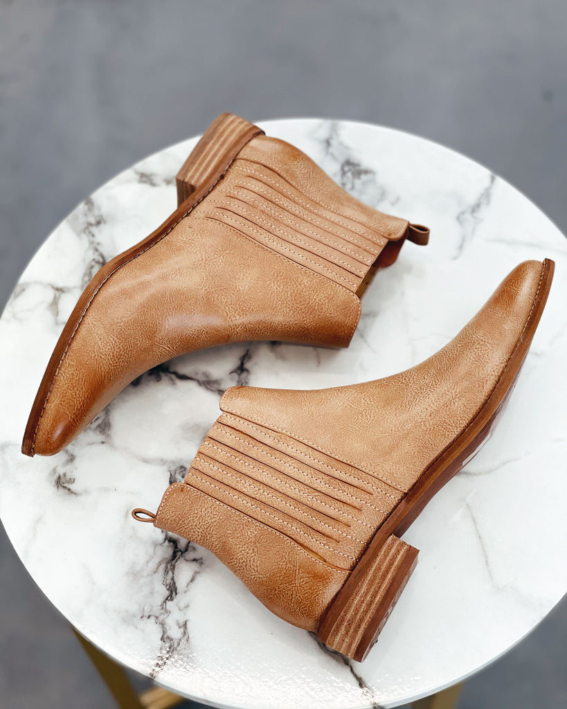 The Mattie Bootie - Taupe