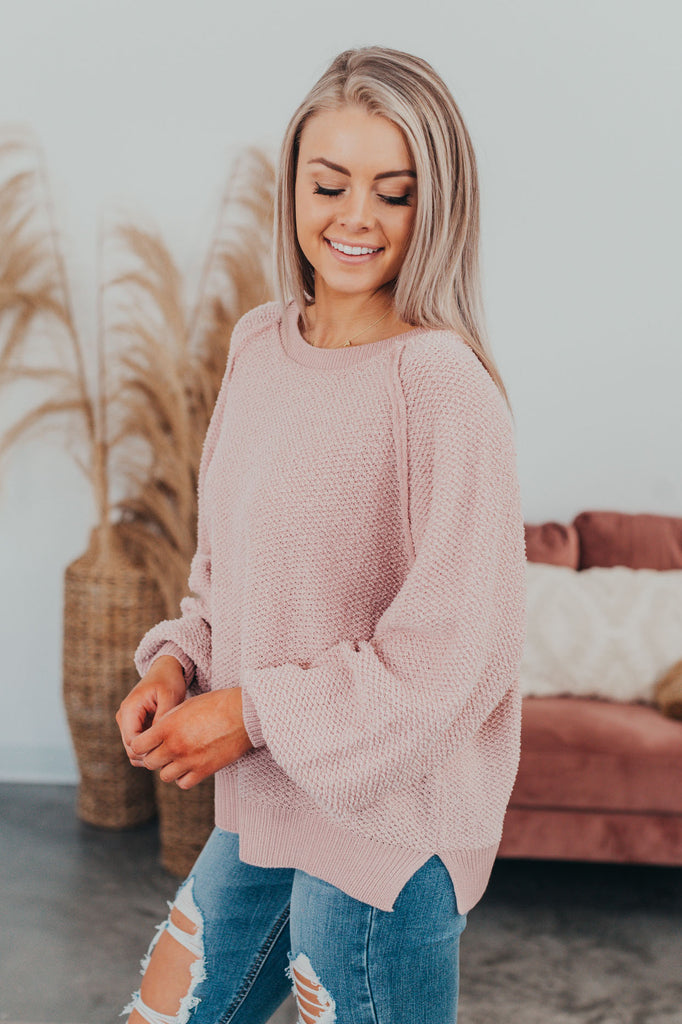 Such A Delight Sweater - Blush