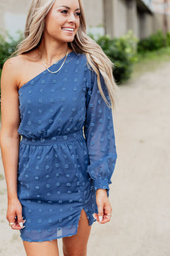 Rise To The Occasion Dress - Denim Blue