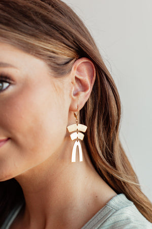 Pagoda Arc Earrings