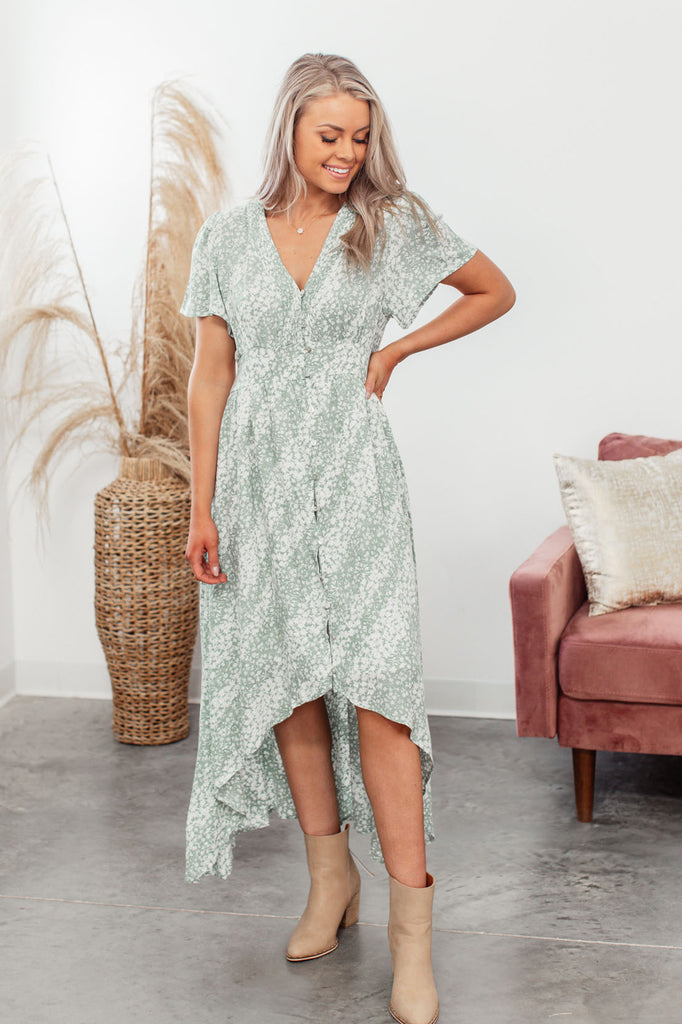 Uptown Girl Dress - Seafoam
