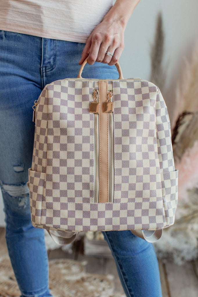 Vintage London Backpack - Cream