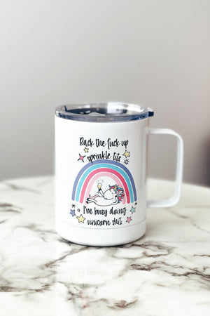 Back Up Unicorn Travel Mug