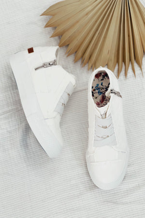 Blowfish Mamba Sneaker Wedge - White