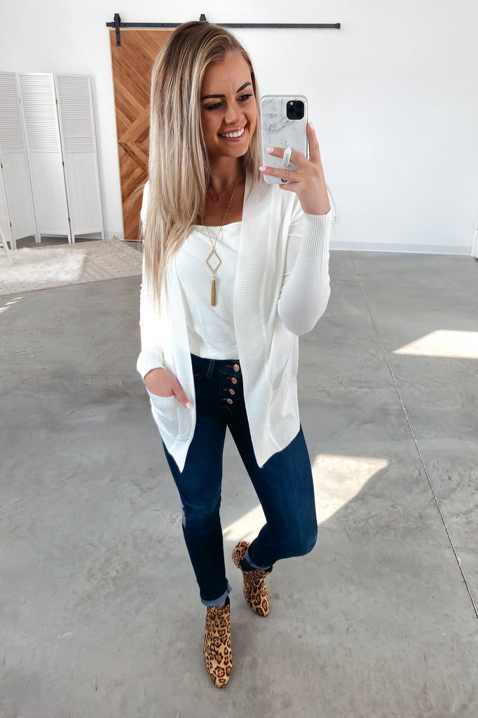Nothing But Time Cardigan-Ivory(S-XL)