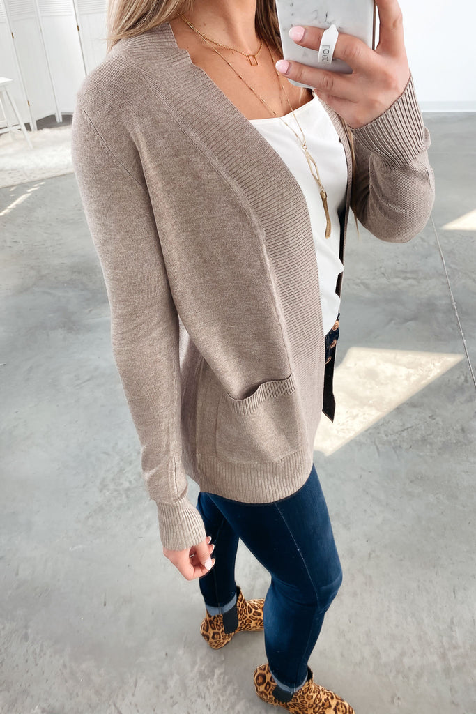 Nothing But Time Cardigan-Mocha(S-XL)