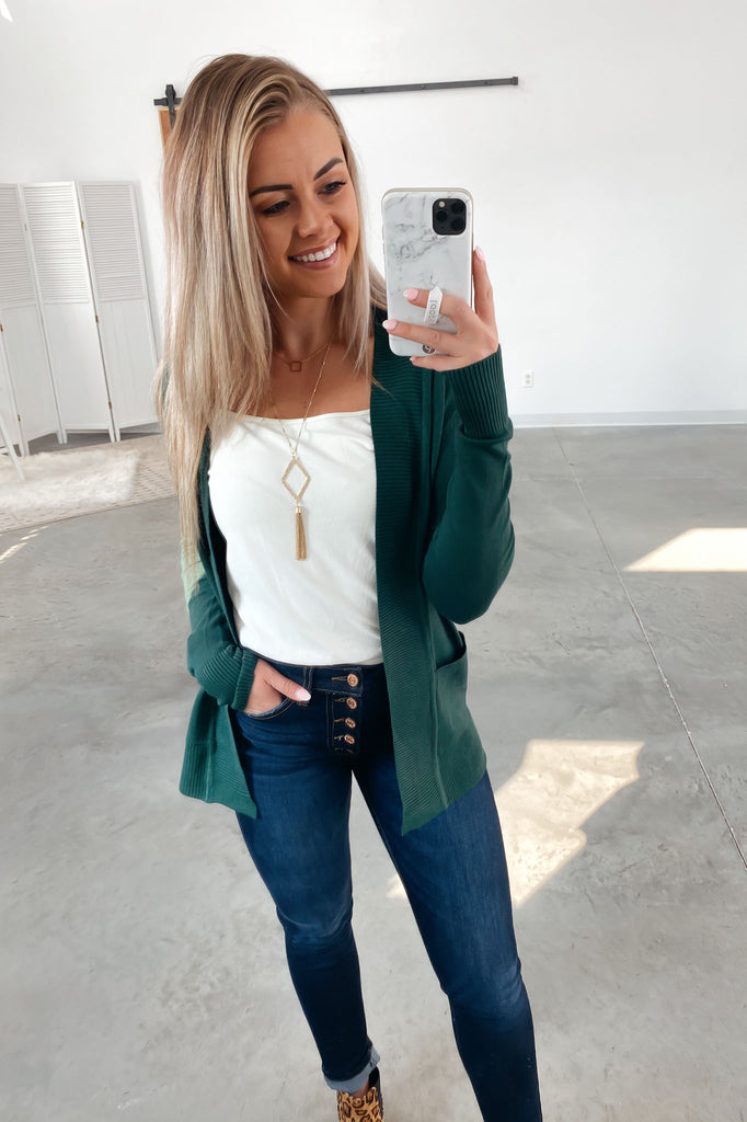 Nothing But Time Cardigan-Green(S-XL)
