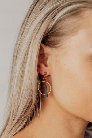 Hoop And Bar Earrings
