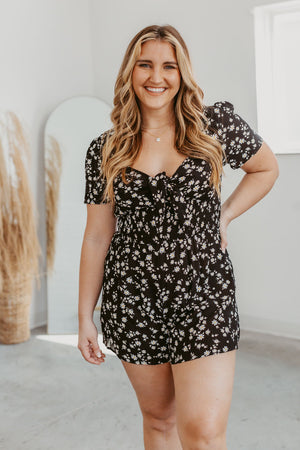 Grace & Lace Perfect V-Neck Tee - Silver/Grey Foiled Animal
