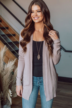 Catch Your Breath Cardigan - Mocha