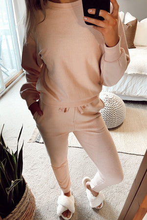 Jumping For Joy Joggers - Blush Pink