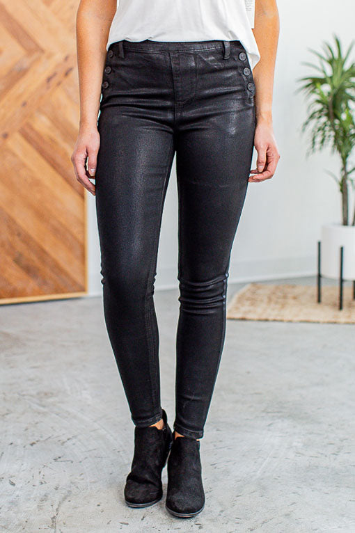 Kan Can Buttoned Detailed Jeans- Black - Beautique