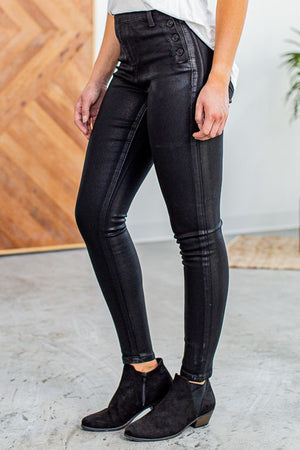 Kan Can Buttoned Detailed Jeans- Black