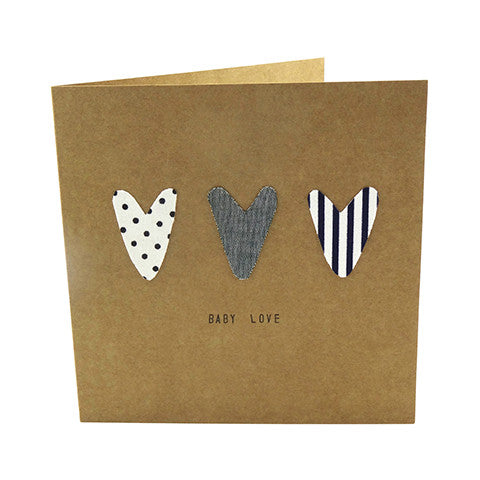 """Baby Love"" Handmade Card - Crystal & Cloth"