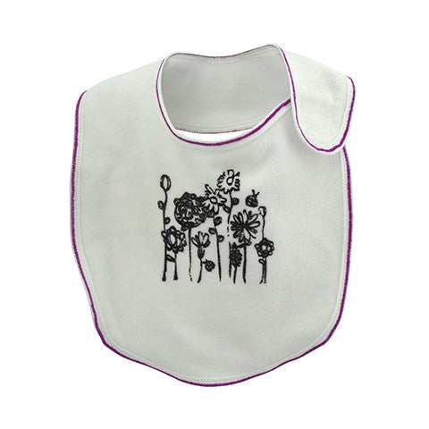Terry Cotton Fleur Bib - Crystal & Cloth