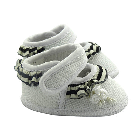 Girls Frill Trim Shoes - Crystal & Cloth
