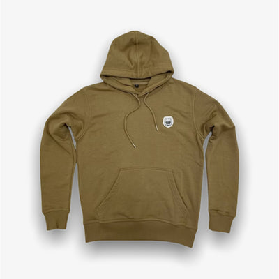 Sneaker Junkies Classic Leather Patch Hoodie Peanut Butter