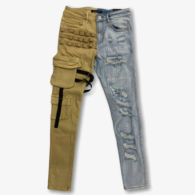Embellish Stockton Cargo Light Denim Khaki