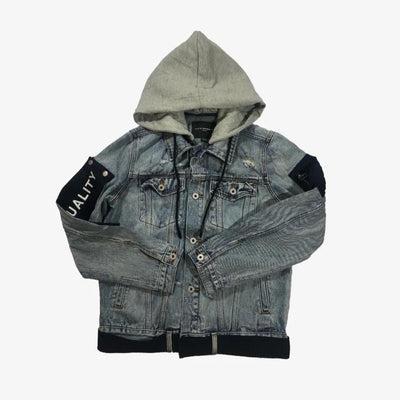 Cult Of Individuality Type 2 denim hooded jacket Acid