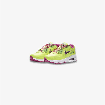 Nike Air Max 90 LTR Volt Multi-color Fire Pink Pre School CW5797-700