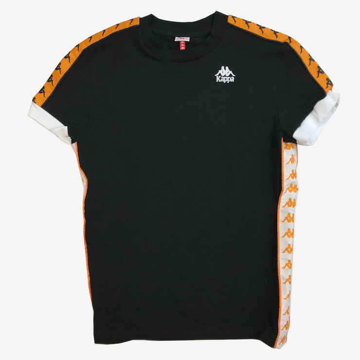 Kappa 222 Banda Bismal Black Orange White T-Shirt