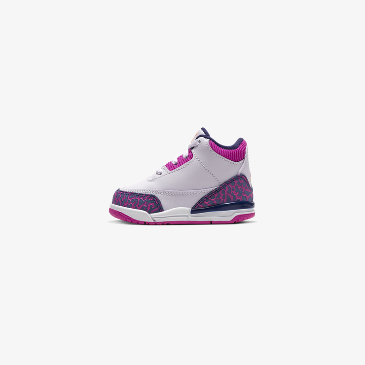 Air Jordan 3 retro TD Barely Grape hyper crimson 654964-500