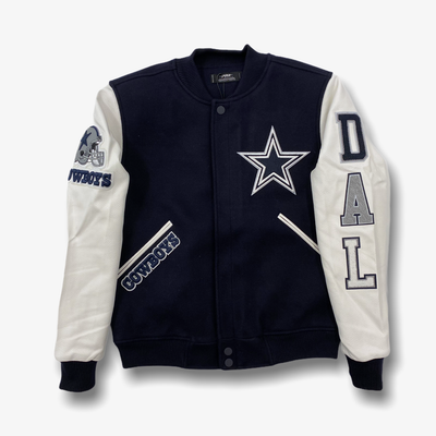 Pro Standard Cowboys Varsity Jacket Navy White