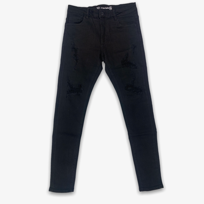 Crsyp Denim Atlantic Denim Black Distress