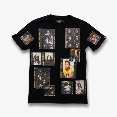 Cult of Individuality x Bob Marley Polaroid Short Sleeve Crew Neck T-shirt Black