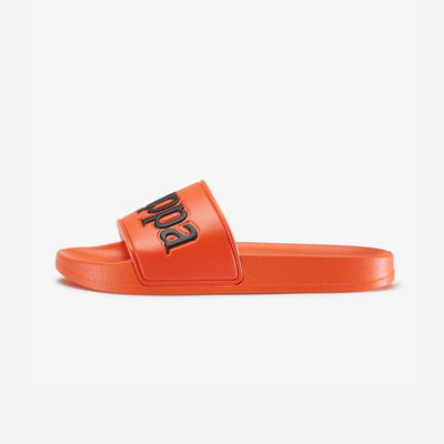 Kappa 222 Banda Adam 9 Slides orange flame black 304JPU0-A07