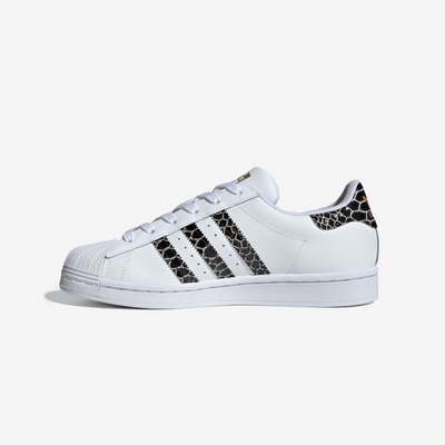Adidas Womens Superstar White Black Gold FV3294