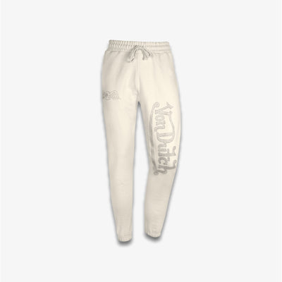 Von Dutch RHINESTONE FLEECE JOGGER Cream